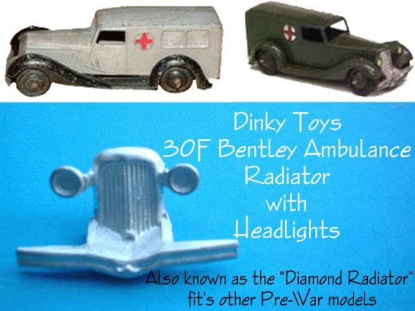 Dinky Toys 24 Series Diamond Grille Radiator for the Early Ambulance etc [ Each ]